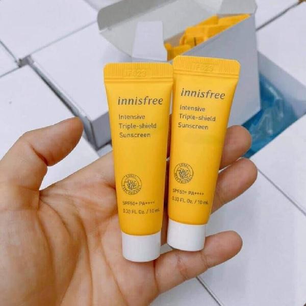 Kem Chống Nắng Chống Rửa Trôi Intensive Tripe Care SunscreenCream SPF50+ PA+++ 10ml