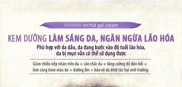 Kem Dưỡng Sáng Da, Ngăn Nếp Nhăn Innisfree Jeju Orchid Gel Cream 1