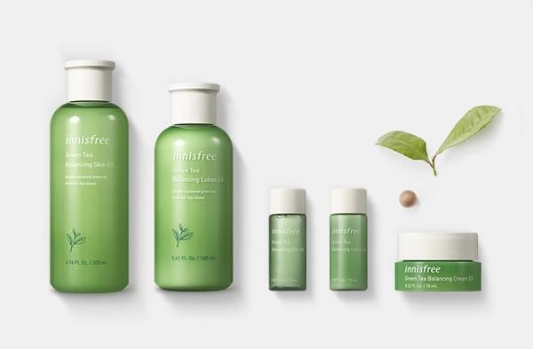 Bộ Dưỡng Ẩm Chuyên Sâu Từ Tinh Chất Trà Xanh Innisfree Green Tea Balancing Skin Care Set Ex