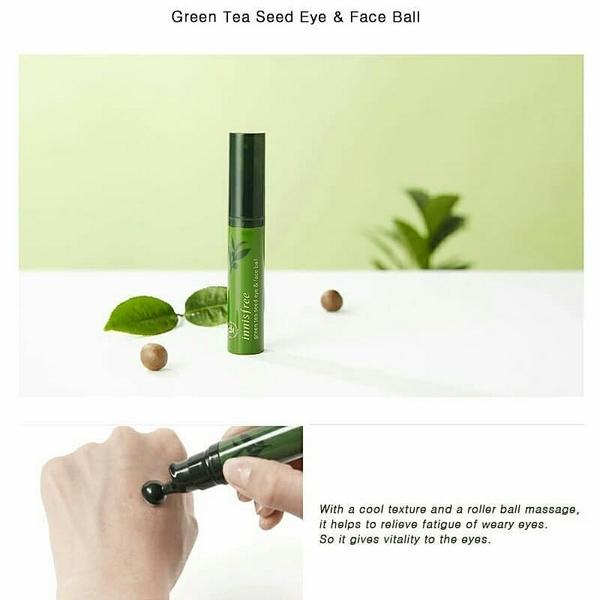 Kết quả hình ảnh cho Lăn mắt trà xanh Innisfree Green Tea Seed Eye