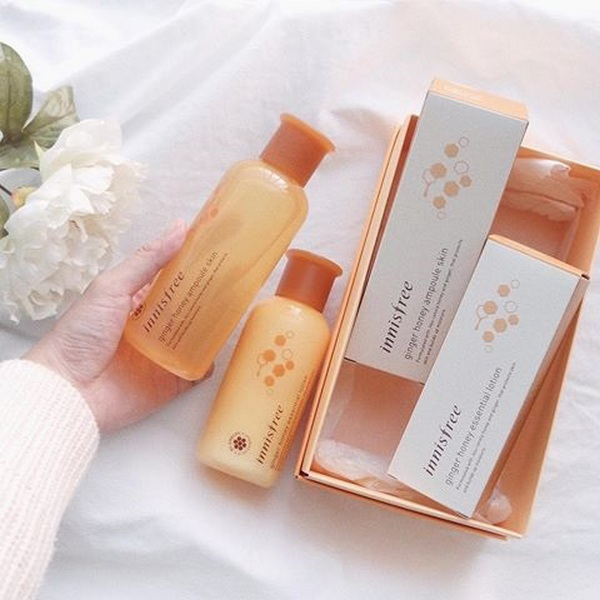 Tinh Chất Dưỡng Trắng Cấp Ẩm Gừng Mật Ong Innisfree Ginger Honey Ampoule Skin