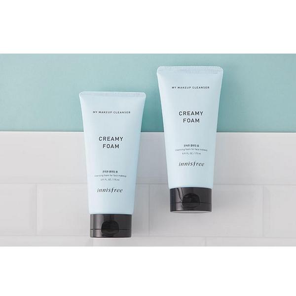 Sữa Rửa Mặt Kết Hợp Tẩy Trang Innisfree My Makeup Cleanser Creamy Foam 175ml