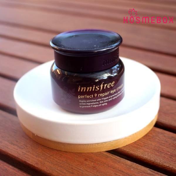 Kem Dưỡng Mắt Cải Thiện Nếp Nhăn Innisfree Perfect 9 Repair Eye Cream 30ml