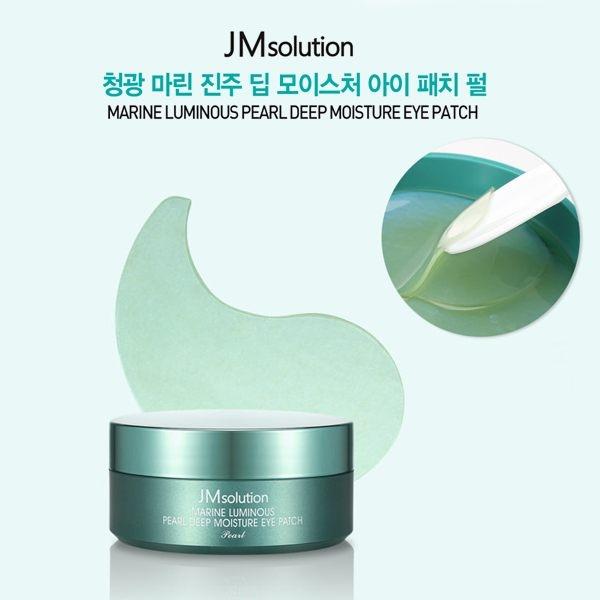 Mặt Nạ Mắt Trị Thâm Quầng Mắt Tinh Chất Ngọc Trai JM Solution Marine Luminous Pearl Deep Moisture Mask