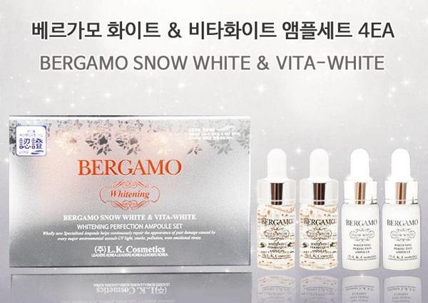 Set 4 Lọ Serum Dưỡng Da Trắng Sáng Bergamo Vita Snow White Whitening