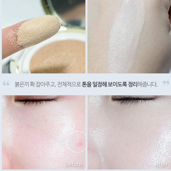 Công dụng Bộ Phấn Nước Dưỡng Ẩm Và Chống Lão Hóa Lime V Collagen Ample Cushion Set SPF 50+ PA+++
