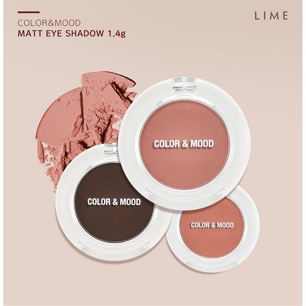 Phấn Mắt Không Nhũ Lime Color & Mood Single Shadow 1.4g