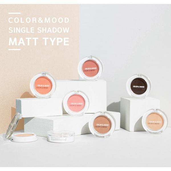 Hình ảnh thực tế Phấn Mắt Không Nhũ Lime Color & Mood Single Shadow 1.4g