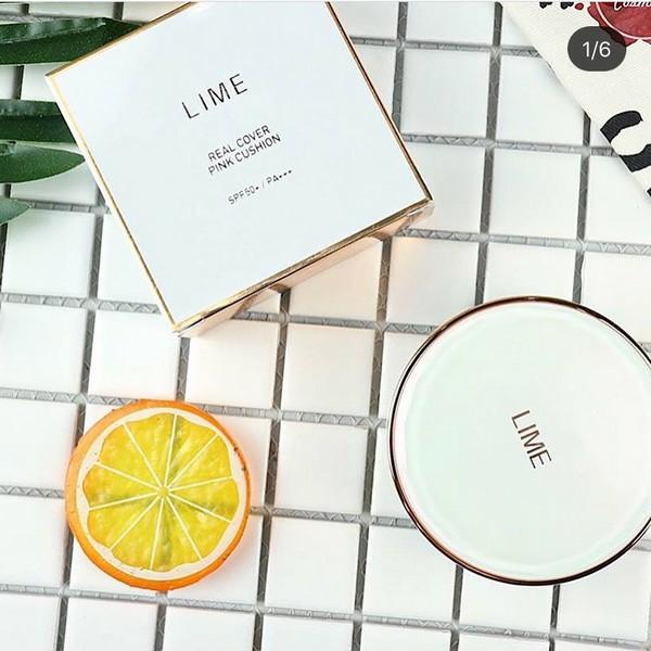 Phấn Nước Kiềm Dầu Lime Real Cover Pink Cushion SPF50+ PA+++