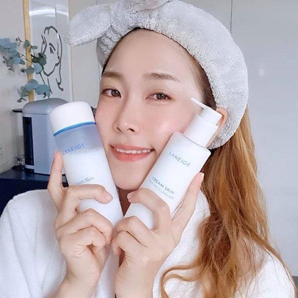 Hướng dẫn sử dụng Sữa Tẩy Trang Dưỡng Ẩm Da Laneige Cream Skin Milk Oil Cleanser 200ml