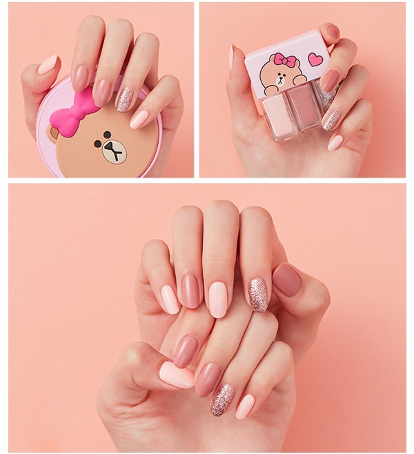 Bộ Sơn Móng Tay Missha (Line Friends Edition) Self Nail Salon Nail Kit