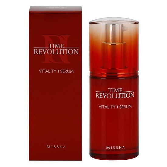 Hình ảnh thực tế Tinh Chất Cải Thiện Nếp Nhăn Missha Time Revolution Vitality Serum 40ml