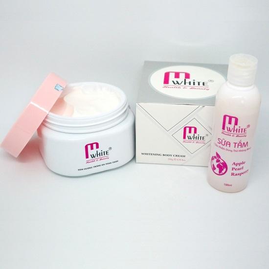 Kem Dưỡng Trắng Da Toàn Thân Mwhite Intensive Whitening Body Cream (Tặng kèm Whitening Body Bath)