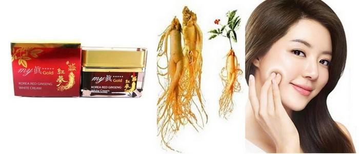 Kem Dưỡng Da Chống Lão Hóa Nhân Sâm Đỏ My Jin Gold Korea Red Ginseng White Cream 50ml