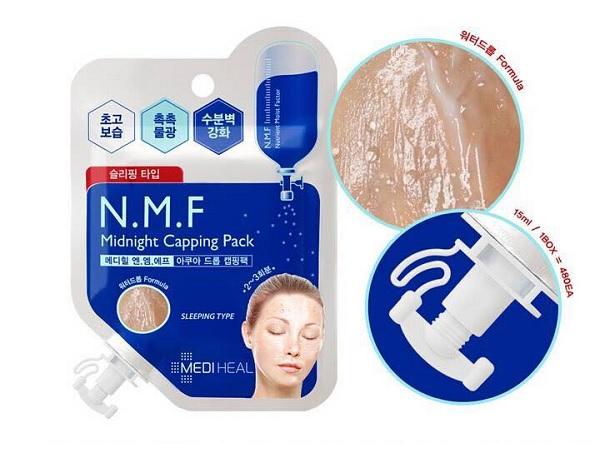 Công dụng Mặt Nạ Ngủ Cấp Ẩm Cho Da Mediheal N.M.F Midnight Capping Pack 15ml