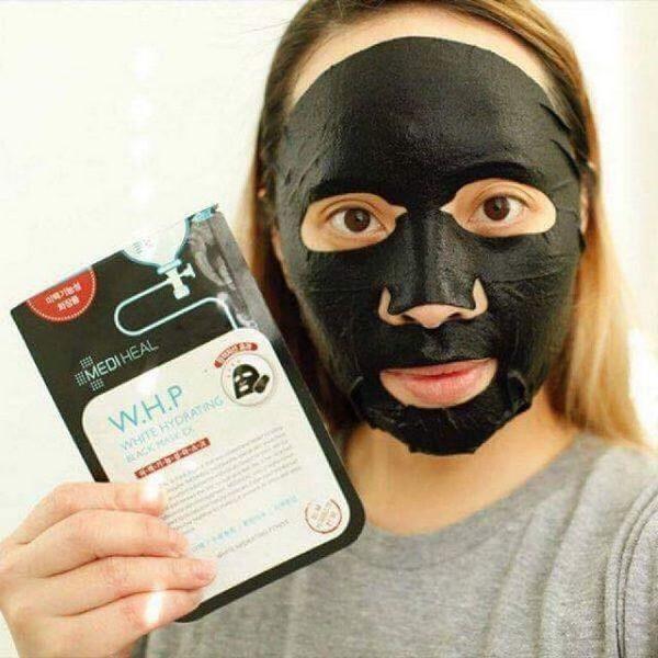 Mặt Nạ Than Hoạt Tính Dưỡng Trắng Da Mediheal W.H.P White Hydrating Black Mask