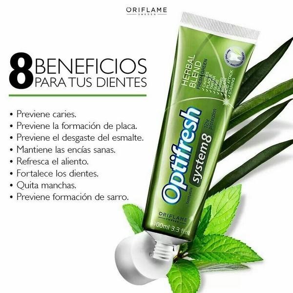 Kem Đánh Răng Thảo Dược Oriflame Optifresh System 8 Herbal Blend Toothpaste 31673