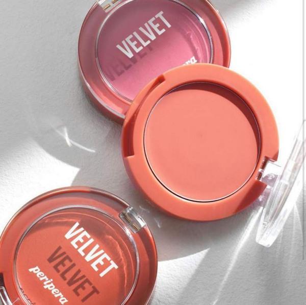Phấn Má Hồng Peripera Pure Blushed Velvet Cheek Pink Moment