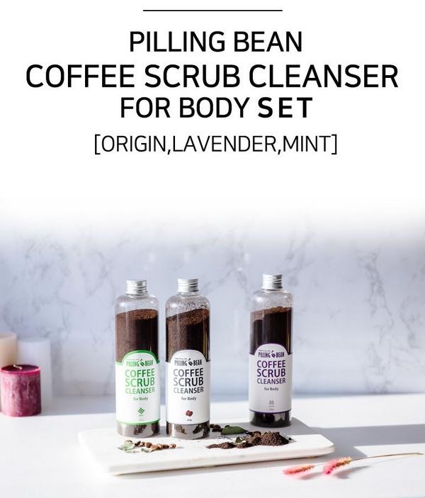 Tẩy Tế Bào Da Chết Toàn Thân Tinh Chất Café Pilling Bean Facial Scrub Cleanser For Body Set
