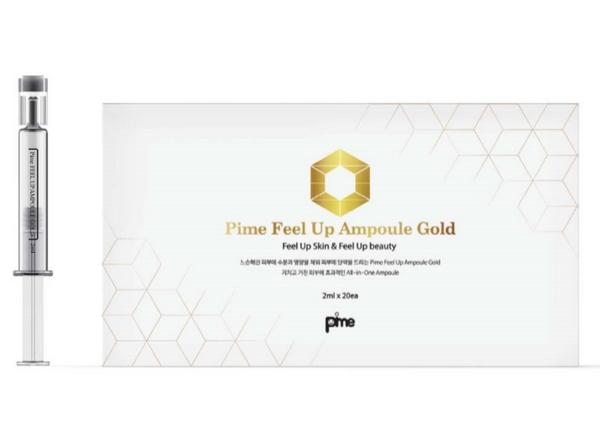 Tinh Chất Dưỡng Da Chuyên Sâu Làm Mờ Nếp Nhăn Với Vàng 24K Nguyên Chất Pime Feel Up Ampoule Gold