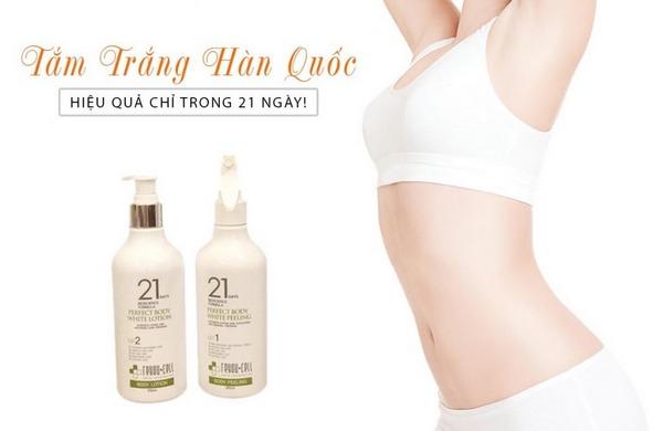 Bộ Dưỡng Trắng body ReyouCell 21 Days Bioscience Formula Perfect Body White Peeling & Lotion 100ml + 100ml