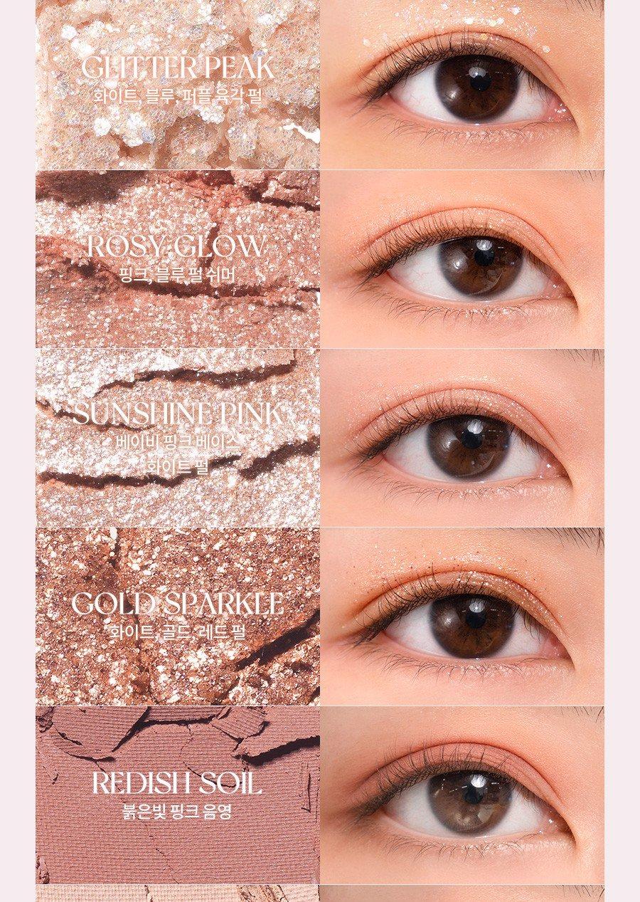 Bảng Phấn Mắt 10 Màu Siêu Lấp Lánh Romand Better Than Eye Palette