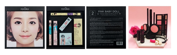 Bộ Dụng Cụ Trang Điểm 6 Món Phiên Bản Màu Hồng Baby Dễ Thương Roroko Pink Baby Doll Make Up Box Set