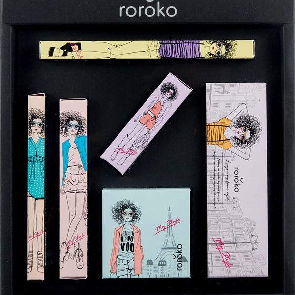 Bộ Trang Điểm 6 Món Tiện Lợi Phiên Bản Màu Nude Tự Nhiên Roroko Natural Nude Make Up Box Set