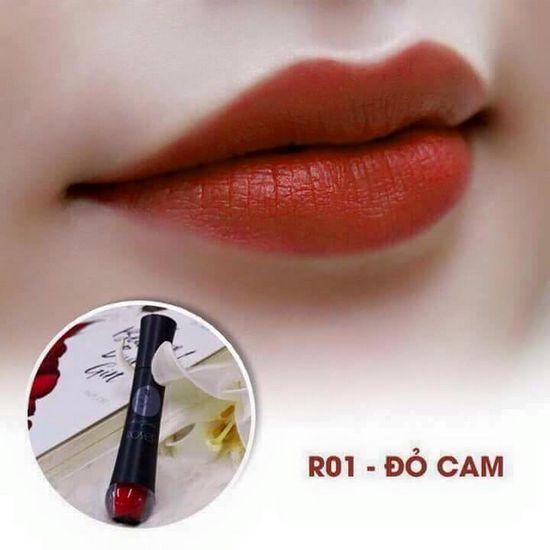 Màu R01 Đỏ Cam Son Matte Kem Lì Cao Cấp Mini Garden Matte Roses  Lipstick