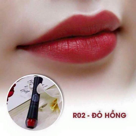 Màu R02 Đỏ Hồng Son Matte Kem Lì Cao Cấp Mini Garden Matte Roses  Lipstick