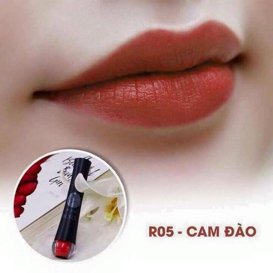 Màu R05 Cam Đào Son Matte Kem Lì Cao Cấp Mini Garden Matte Roses  Lipstick