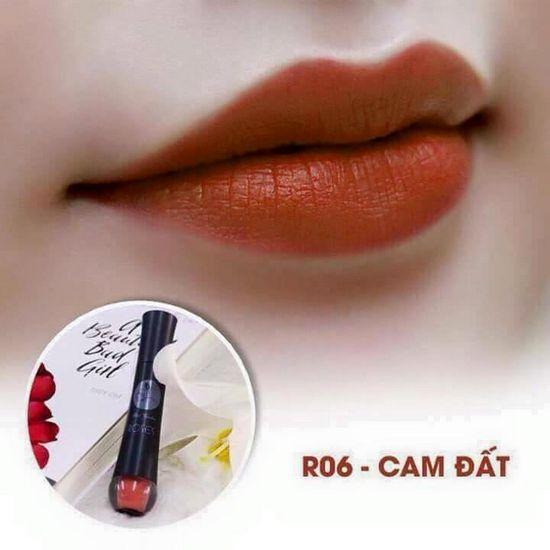 Màu R06 Cam Đất Son Matte Kem Lì Cao Cấp Mini Garden Matte Roses  Lipstick