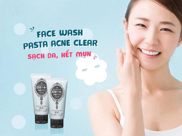 Thành phần Sữa Rửa Mặt Bùn Biển Giảm Mụn Rosette Cleansing Paste Nhật Bản Acne Clear 120g