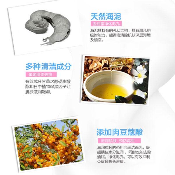 Thành phần của Sữa Rửa Mặt Bùn Biển Giảm Mụn Rosette Cleansing Paste Nhật Bản Acne Clear 120g