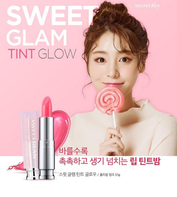 Son Thỏi Siêu Mịn Môi Tuyệt Sắc Secret Key Sweet Glam Tint Glow