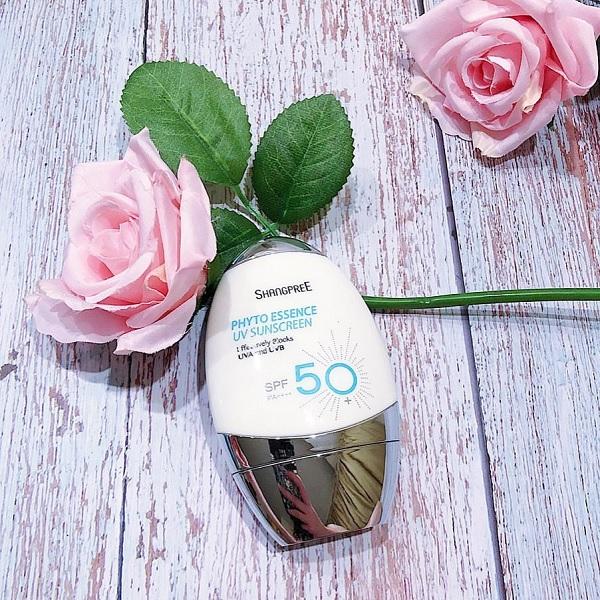 Hình ảnh thực tế Kem Chống Nắng Dưỡng Ẩm Shangpree Phyto Essence UV Suncreen SPF50+/PA++++ 50g
