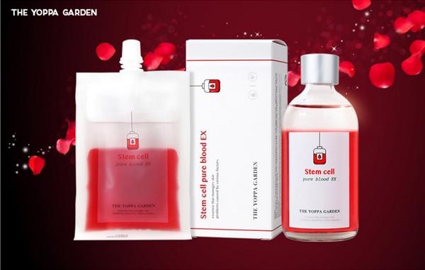 Set Tinh Chất Tế Bào Gốc Dưỡng Trắng Da Se Khít Lỗ Chân Lông The Yoppa Garden Stem Cell Pure Blood EX