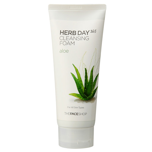 Sữa rửa mặt Herb Day 365 Cleansing Foam The Face Shop #aloe