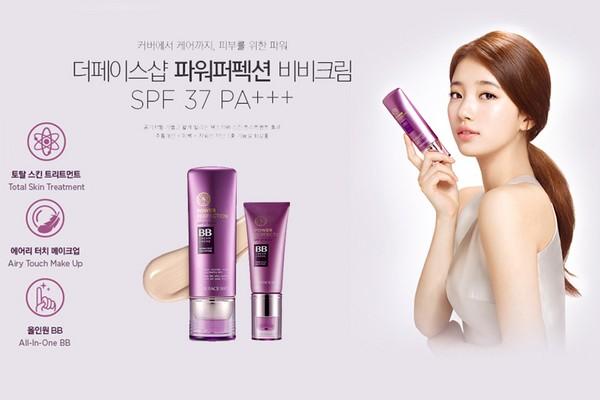Kem Nền The Face Shop BB Cream Power Perfection SPF37 PA++