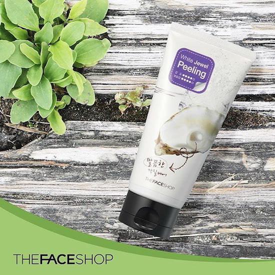 Tẩy Da Chết The Face Shop White Jewel Peeling 120ml – Chiết Xuất Ngọc Trai Làm Trắng Da
