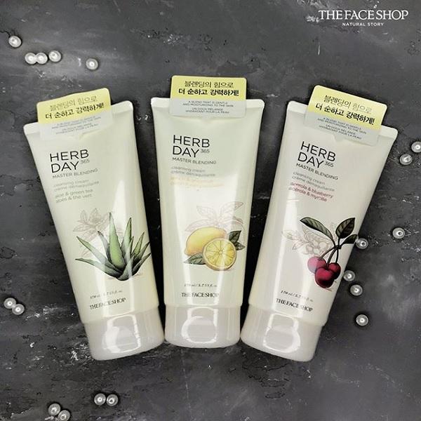 Kem Mátxa Tẩy Trang The Face Shop Herb Day Cleansing Cream 170ml 1