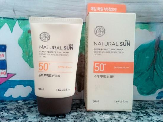 Kem Chống Nắng The Face Shop Natural Sun Eco Super Perfect Sun Cream SPF50 50ml
