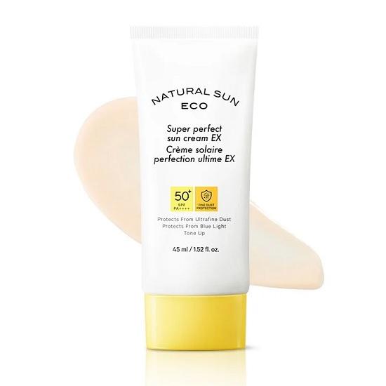 Hình ảnh thực tế KemChống Nắng The Face Shop Natural Sun Eco Super Perfect Sun Cream SPF50 80ml