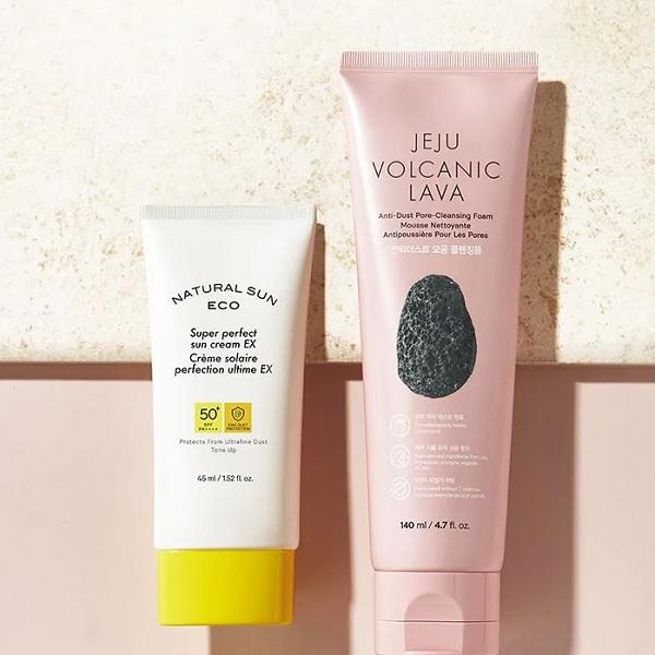 Mô tả KemChống Nắng The Face Shop Natural Sun Eco Super Perfect Sun Cream SPF50 45ml