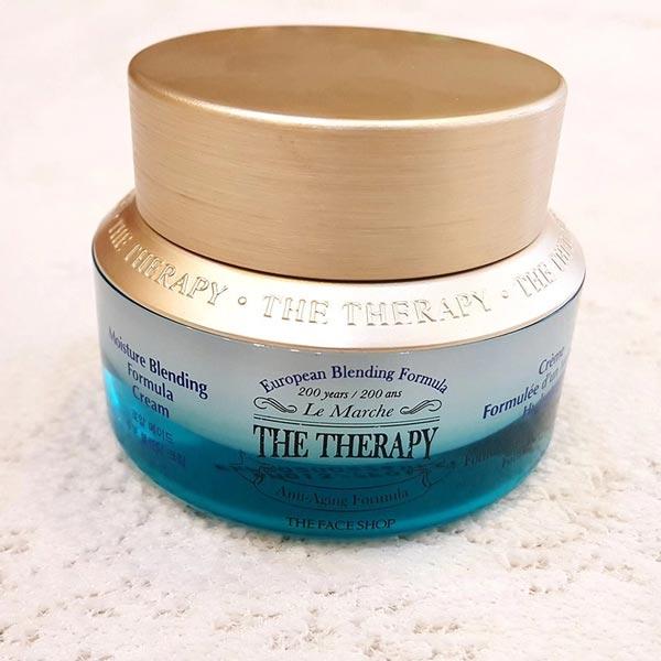 Hình ảnh thực tế Kem Dưỡng Ẩm Chống Lão Hóa The Face Shop The Therapy Moisture Blending Formula Cream 50ml