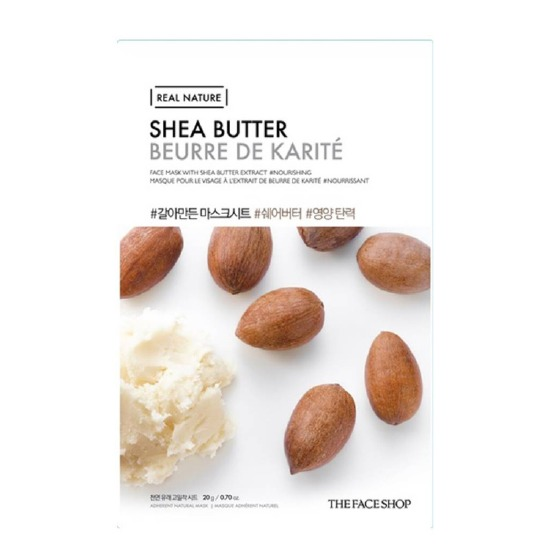 Combo 10 Mặt Nạ Giấy Chiết Xuất Từ Bơ Hạt Mỡ The Face Shop Real Nature Mask Shea Butter 20g