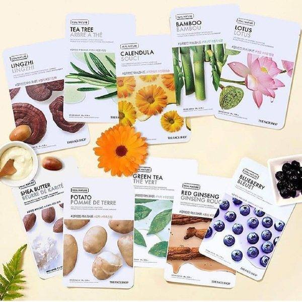 Combo 10 Mặt Nạ Giấy Linh Chi The Face Shop Real Nature Mask Lingzhi 20g