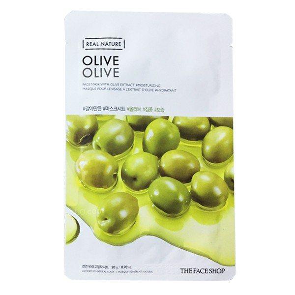 Combo 10 Mặt Nạ Giấy Olive Trẻ Hóa Làn Da The Face Shop Real Nature Mask Olive 20g