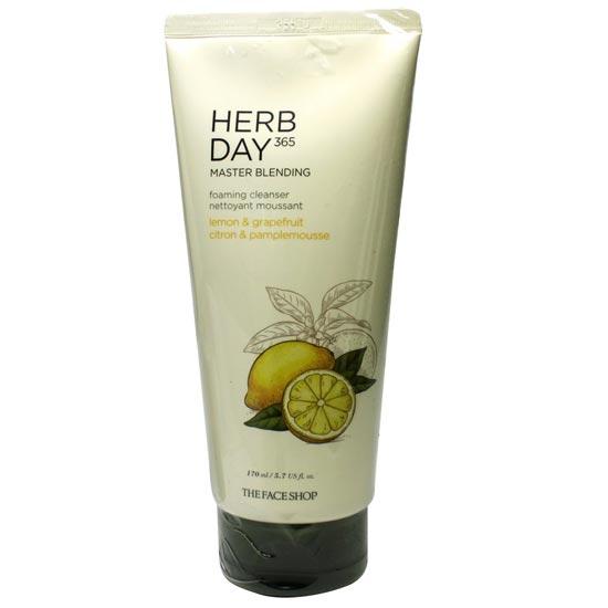 Hình ảnh thực tế Sữa Rửa Mặt Chanh & Bưởi Herb Day 365 Master Blending Foaming Cleanser 170ml
