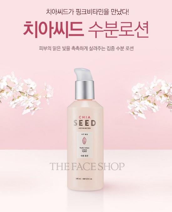Sữa Dưỡng Trắng Mịn Da The Face Shop Chia Seed Advanced Hydro Lotion 145ml